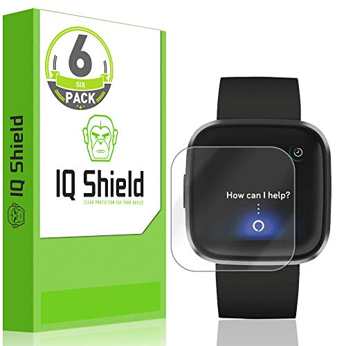 IQ Shield Screen Protector Compatible with Fitbit Versa 2 (6-Pack) Anti-Bubble Clear Film