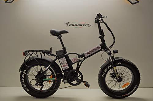 baratos y buenos Ferrareis Fat Bike 20 – Bicicleta estática plegable (250 W, 480 W Peak, Aluminio, Shimano Personal) calidad