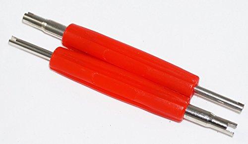 Felgenfactory 2 extractores de válvulas, 2 caras, herramienta de núcleo, extractor de neumáticos, destornillador de reparación