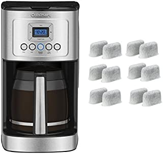 Cuisinart DCC-3200 Perfect Temp 14-Cup Programmable Coffeemaker, Stainless Steel and Everyday 12-Pack Replacement Charcoal Water Filters for Cuisinart Coffee Machines Bundle