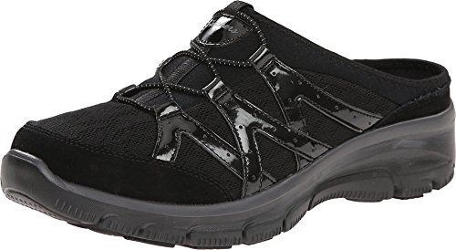 Skechers Women's Easy Going Repute Mule,Black,9.5 M US