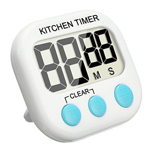 EIVOTOR Digital Küchen Timer Elektronische Speicher Timer Digital Timer Erinnerung Kunststoff Küchenwecker Kurzzeitmesser Digitaler Kitchen Timer Magnetisch Stoppuhr Küchenuhr mit LED Bildschirm