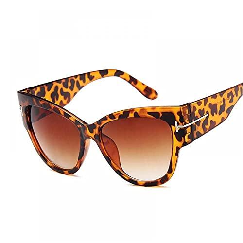 FRGH Gafas De Sol De Ojo De Gato De Diseñador De Marca Vintage para Mujer, Gafas De Sol con Gradiente Negro Retro, Montura Grande para Mujer