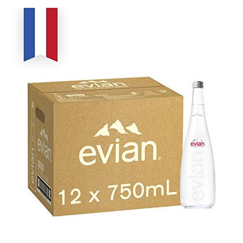 エビアン グラスボトル 750ml×12本