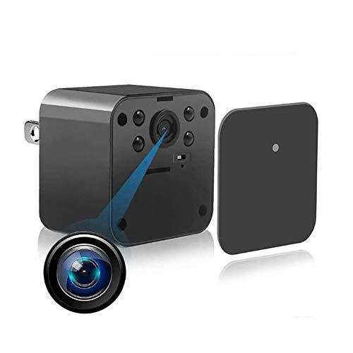 GEQWE Cámaras Espía Ocultas, Mini Cámara Oculta Portátil, Cargador De Pared USB Cámara Espía Vigilancia De Seguridad para El Hogar 1080P WiFi Visión Nocturna con, para Interiores