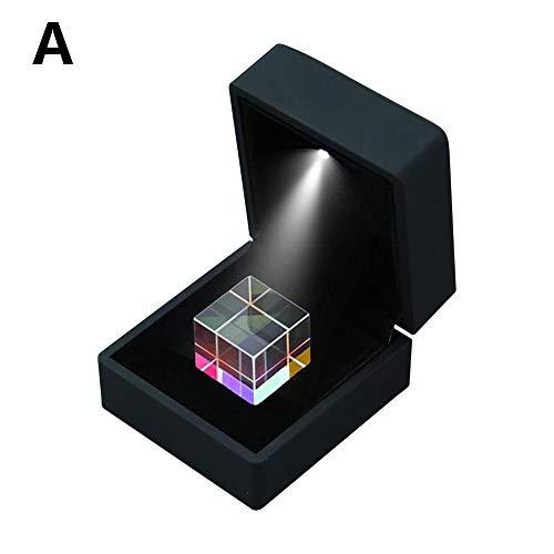 Eillybird Prisma Kubus Kleurenverzamelprisma 6-zijdige prisma-lichtkubus met lichtbox Kleurprisma Vierkante Prisma Optische glazen lens