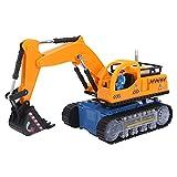 RANNYY Juguete de Excavadora, Juguete de Excavadora de plástico, Juguete de Excavadora de plástico para niños, Excavadora eléctrica con Pilas, Tractor de construcción de Juguete