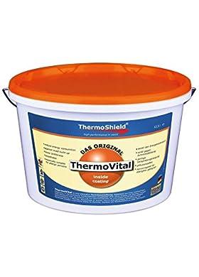 Foto di Thermoshield ThermoVital - Membrana endotermica per interni ideale contro le muffe pronta all'uso migliora l'isolamento termico nelle abitazioni sia in estate che in inverno. Colore bianco (litri 5) [Video ITA] https://youtu.be/_COH7O83uyI