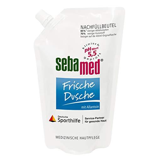 sebamed Frische Dusche Nachfüllbeutel, für die milde Erfrischung der empfindlichen Haut nach Sport und Beanspruchung, 400 ml