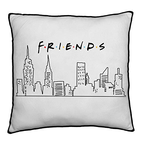 Friends Manhattan New York Square Cushion Pillow | TV Show Scene Design | Officially Licensed Reversible Two Sided Design