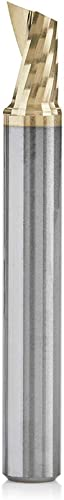popular Amana Tool 51479-Z SC online sale Spiral O Single Flute ZrN Coated Aluminum Cutting 1/4 D x sale 3/8 CH x 1/4 SHK x 2 Inch Long Up-Cut Router Bit withMirror Finish sale