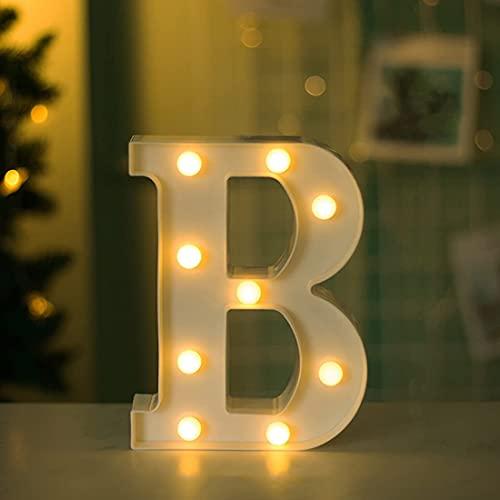Bipily Letras luces alfabeto lámpara LED carta iluminación letras iluminadas Letrero de Luces de Letra Led decoración para cumpleaños Party bodas guarderías