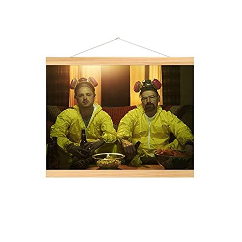 Lacvik Póster de Breaking Bad, decoración de impresión, Cuadros de Pared de Chica Abstracta para la decoración del hogar de la Sala de Estar, 50x70cm con Marco