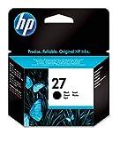 HP 27 C8727AE Cartuccia Originale per Stampanti a Getto di Inchiostro, Compatibile con PSC 1315v e Deskjet 3420, 3425, 3550, 3650, 3745, 5150, 5652, 5150, Nero