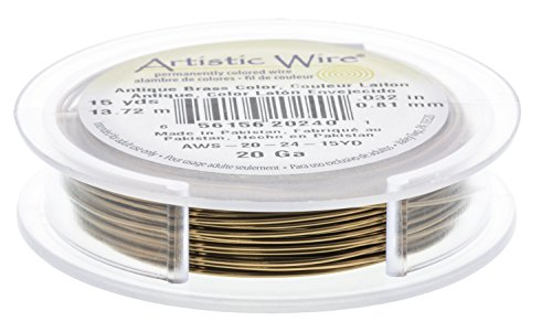 Artistic Wire Spool-20 Ga - Antique Brass - BDC-804.24 by EuroTool