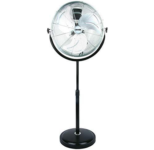 DMS® MSV-50 Ventilator Standventilator Standlüfter Bodenventilator Windmaschine Stehventilator Ø 50 cm 120W Lüfter Gebläse