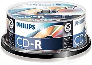 comprar comparacion Philips CD-R CR7D5NB25/00 - CD-R vírgenes, 700 MB, 80 min, 52x, pack de 25