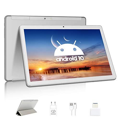 Tablet Android 10.0 10 Pulgadas 4G Octa Core Dual SIM Card Tablet,4GB Storage 64GB Memoria,Certificación Google GMS