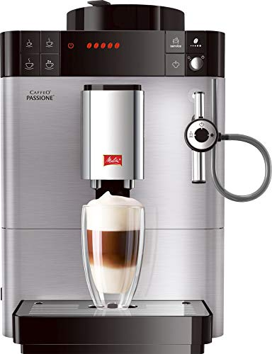 Melitta Caffeo Passione F540-100, Kaffeevollautomat mit Auto-Cappuccinatore-System, Edelstahl
