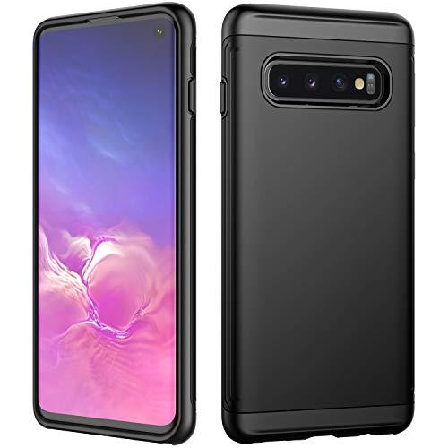 JETech Funda para Compatible Samsung Galaxy S10, Carcasa Protectora de Doble Capa Absorción de Choque, Negro