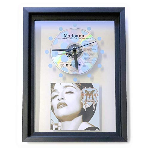 MADONNA - The Immaculate Collection: GERAHMTE CD-WANDUHR/Exklusives Design