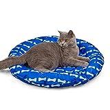 KORIMEFA Cama de enfriamiento para Perros Mascotas Accesorios para Dormir de Verano para Gatos Cachorros Hogar y Viajes (Hueso)