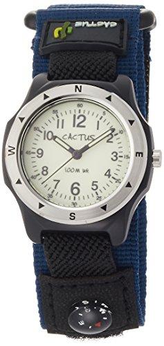 [カクタス] 腕時計 蓄光ダイヤル 10気圧防水 簡易コンパス付 CAC-65-M03 正規輸入品 ブルー