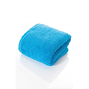 100% NON-GMO Turkish Cotton Bath Sheet, Extra Long 40 x80 , Thirsty Towels, 670 GSM Weight. (40X80, BODRUM BLUE)