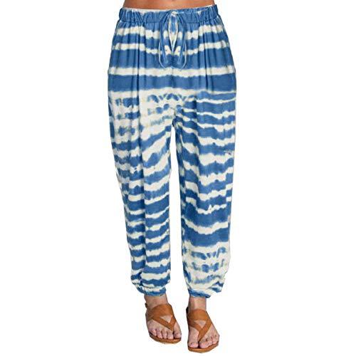 nobranded Pantalones de Mujer Joggers Pantalones de chándal Pantalones Holgados para Mujer Pantalones Casuales de Cintura Acanalada Pantalones Hippies de harén