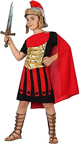 Cisne 2013, S.L. Disfraz de 2 Piezas para Carnaval Infantil niño de Gladiador. Color Rojo y Negro. Talla 7/9 años de niño y niña. Cosplay niña Carnaval.