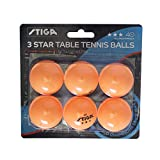 STIGA Three-Star Ping Pong Table Balls - Orange