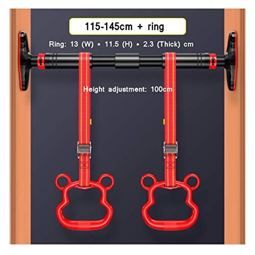 WYY Barra telescopica per trazioni per porta, barra orizzontale, con testa antiscivolo ingrandita, con anello di sollevamento, utilizzata per dispositivi di allenamento casalingo/palestra (colore: C)