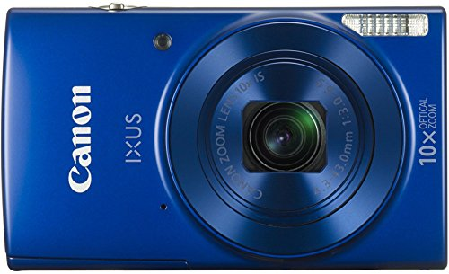 Canon IXUS 190 Digitalkamera (20 MP, 10x optischer Zoom, 6,8cm (2,7 Zoll) LCD Display, WLAN, NFC, HD Movies) blau