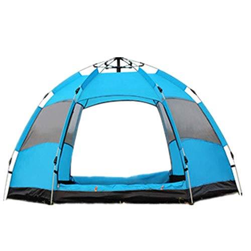 Viajes montañismo tienda de campaña al aire libre a prueba de lluvia 3-5 Persona Carpa Doble tienda de campaña camping bolsa de almacenamiento portátil puede utilizarse for acampar al aire libre Parqu