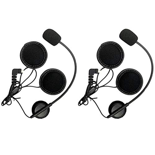 Tuneway 2 altavoces de 8 pines para micrófono BT-S1 BT-S2/S3 de intercomunicación de motocicleta para cascos abiertos.