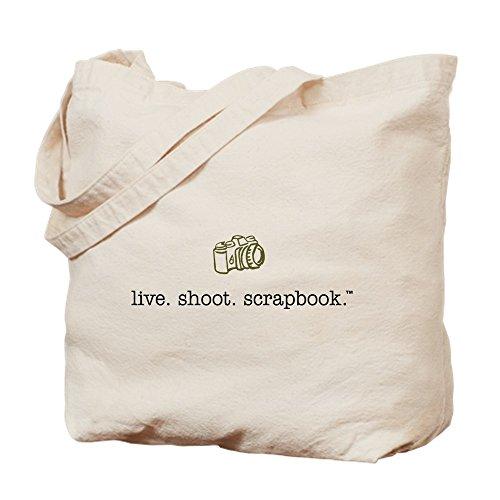 CafePress Leben, Schießen. Scrapbook.–natürliche Canvas-Tasche, Tuch, mit Tasche