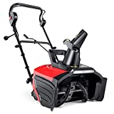 Electric Snow Blower, 15 Amp 20 Inch Width & 10 Inch Depth, Snow Blower, Steel Auger, 180° Rotatable Chute, 60°- 90° Snow Outlet, Throws Snow up to 26ft, LED Lights, Single-Stage Snow Thrower
