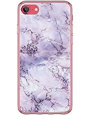 Carcasa de silicona Kinnter compatible con iPhone SE (2020), carcasa fina transparente de TPU antigolpes, diseño original para iPhone SE (2020)
