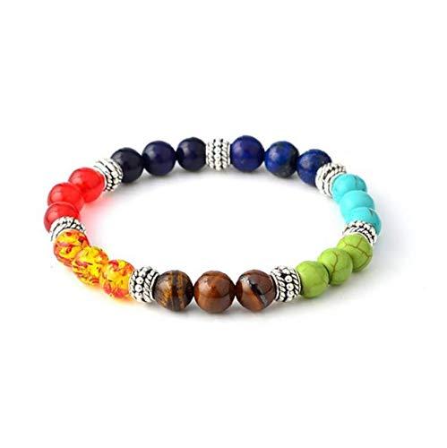 1Pack 7 Chakras Bracelet Chakra Bead Bracelets Healing Balancing Round Beads Fancy Jewellery Gift for Women Girls