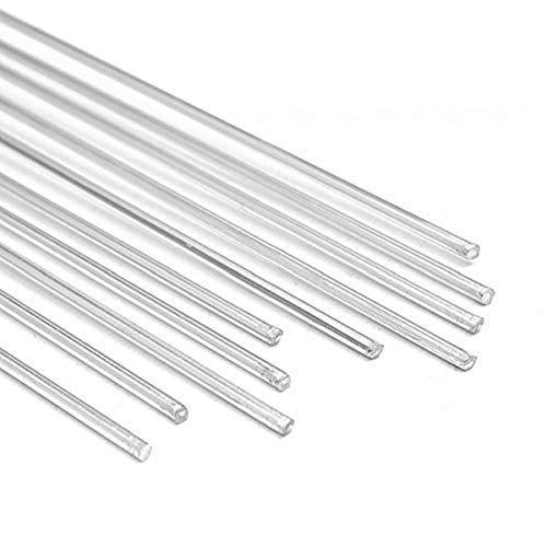 MASUNN 10Pcs 2.4 Mmx330Mm Aluminio Aleación Plata TIG Relleno Varillas Soldadura Soldar Herramientas De Alambre