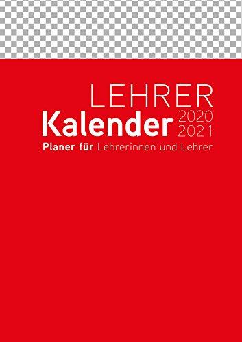 Lehrerkalender/Schuljahresplaner 2020/2021 - A4, Umschlagfarbe: rot