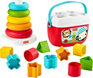 Gift set featuring two classic infant toys made from plant-based materials (*Toys made from a minimum of 90% ethanol extracted from sugar cane.) The Rock-a-Stack ring toy has a rocking base and 5 colorful rings to stack Baby's First Blocks offers ...