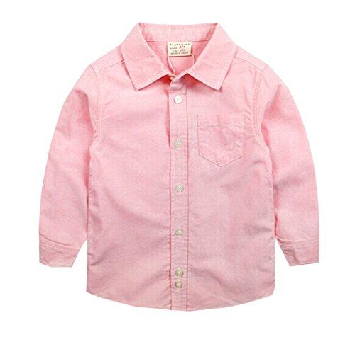 Blancho Chemise simple à manches longues pour garçon Little Gentleman - Rose - Taille Unique