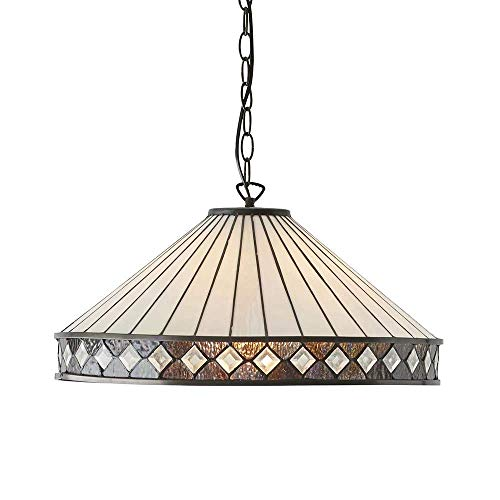 Fargo Grande Tiffany Style Un Plafonnier Plafonnier - Interiors 1900 64147