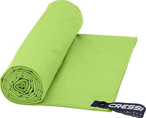 Cressi Fast Drying, Asciugamano/Telo Sportivo in Microfibra, Vari Colori e Misure Unisex Adulto, Verde, 30 x 50 cm