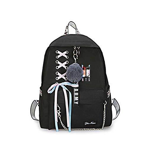 Unisex BTS Backpack Mochila Bangtan Bolsas de Escuela Impresas para niños Niñas...