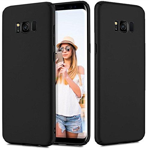 Conie CP30467 Classic Plain Kompatibel mit Samsung Galaxy J1 2016, Hülle Basic Ultradünn Slim Cover Handyhüllen PC Bumper Schutzhülle für Galaxy J1 2016 Case Matt Schwarz