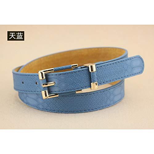 DFIEEHOJ Gürtels Klassisches Muster Weiblichen Gürtel Jeans Frauen Mode Lässig Schlangenleder Gürtel