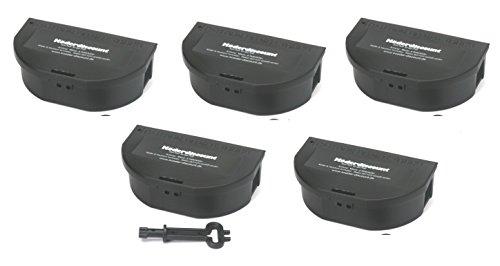 Köder-Discount 5 Mäuseköderboxen Köderbox Maus schwarz Köderstation für Mäusegift Mäuseköder