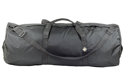 Northstar Sports 1050 HD Tuff Cloth Diamond Ripstop Series Gear and Duffle Bag, 18 x 42-Inch, Midnight Black